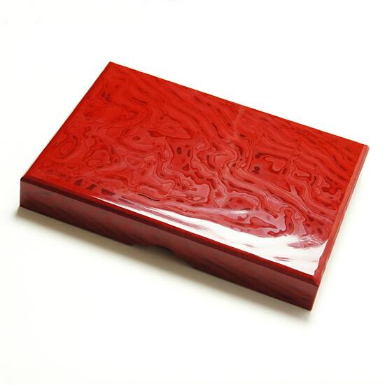 漆の硯箱 (すずりばこ)伝統工芸 漆塗り 水銀朱1点もの◆現品限り