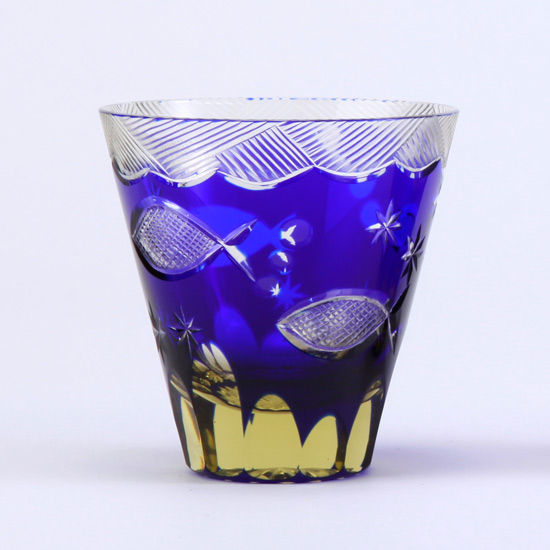 江戸硝子/ロックグラス/おさかなグラス
