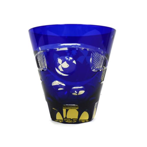 ロックグラス つきみ 青切子/江戸硝子/グラス/ガラス