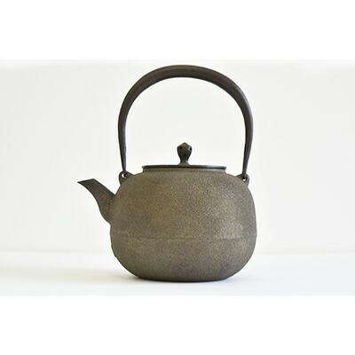 鉄瓶 玉形鋳肌鉄分/やかん/湯沸/茶道