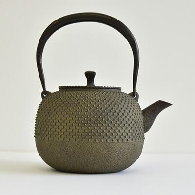 鉄瓶 玉形霰鉄分/やかん/湯沸/茶道