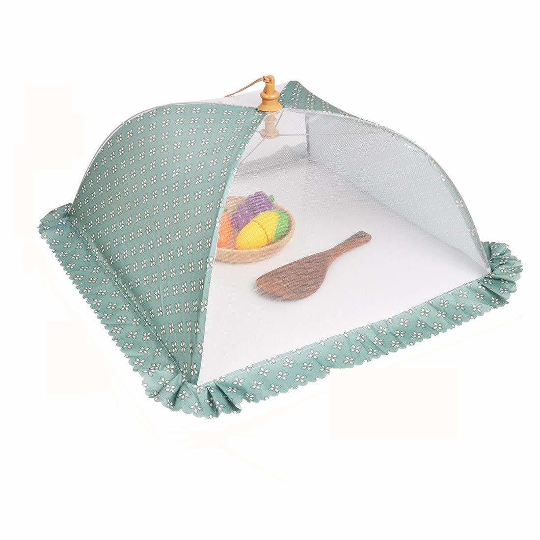 店 洋風フードカバー 食卓カバー 割り引き 折りたたみ式 DEWEL フードカバー キッチンパラソル 3色あり 洋風 正方形 虫よけ 埃よけ 洗える 折り畳み式