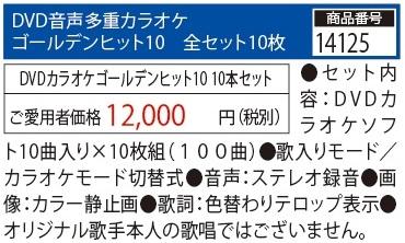 DVD音声多重カラオケ ゴールデンヒット10 10本セット