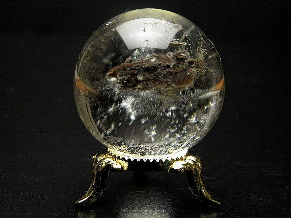 ガーデンクォーツ丸玉 台付きブラジル産 水晶 クリスタル クォーツ 球 天然石 パワーストーン
