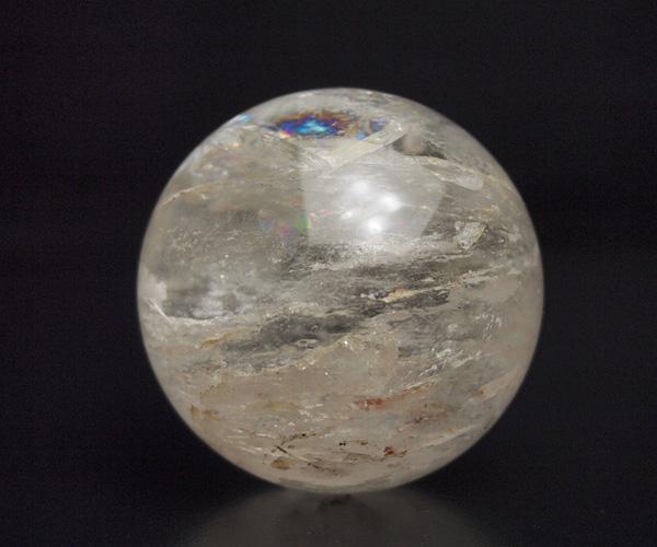 天然水晶玉 ブラジル産 57mm 水晶玉1点もの 丸玉 台付き 水晶 クリスタル クォーツ 球 天然石 パワーストーン