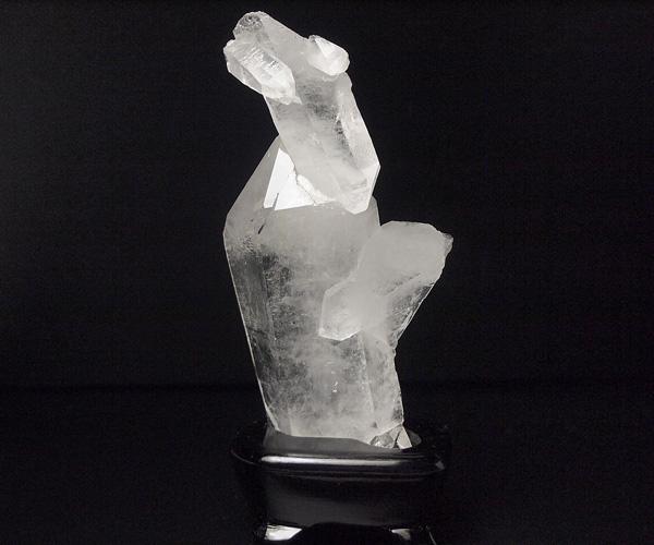 水晶クラスター 280gブラジル産 台座付き
