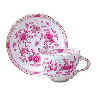 【マイセン公式/日本総代理店】 マイセン インドの花(ピンク) ティーカップ&ソーサー