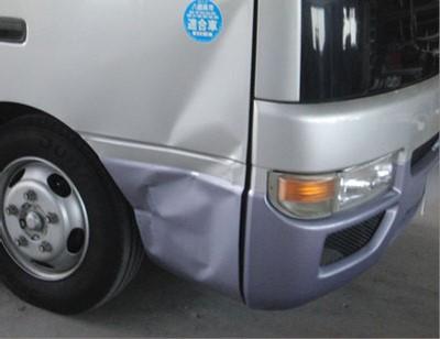 大型車(トラック・バス)修理【中破】ニッサン シビリアン修理内容:右フロントドア・フロントフェンダー修理工賃ポイント10倍