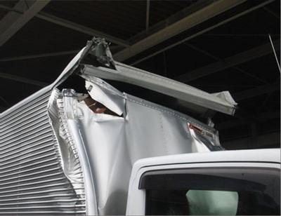 大型車(トラック・バス)修理【大破】アトラス アルミバン修理内容:アルミバンボディ修理修理工賃ポイント10倍