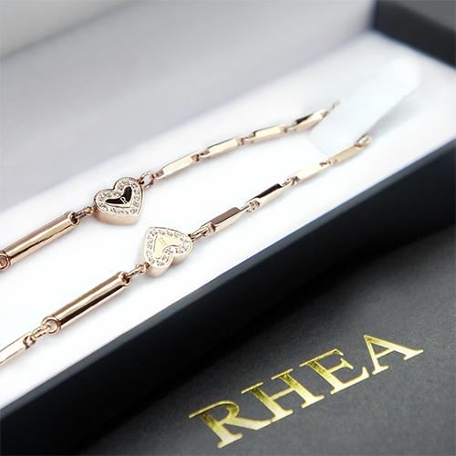 【RHEA】α elegant ネックレス(ゴールドハートダイヤ / レディース)