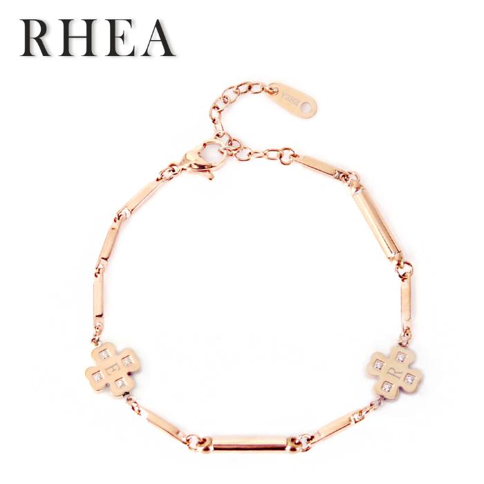 【RHEA】ブレスレット&アンクレット ( α elegant ゴールドクローバーX /レディース )