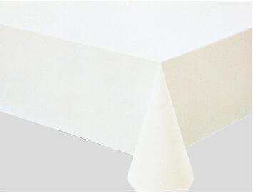 テーブルクロス クロス カバー 切売りクロス 汚れ防止  防水 運動会 学園祭 文化祭 バザー  反売り テーブルクロス MG-610 (ホワイト) 120cmx50m巻き