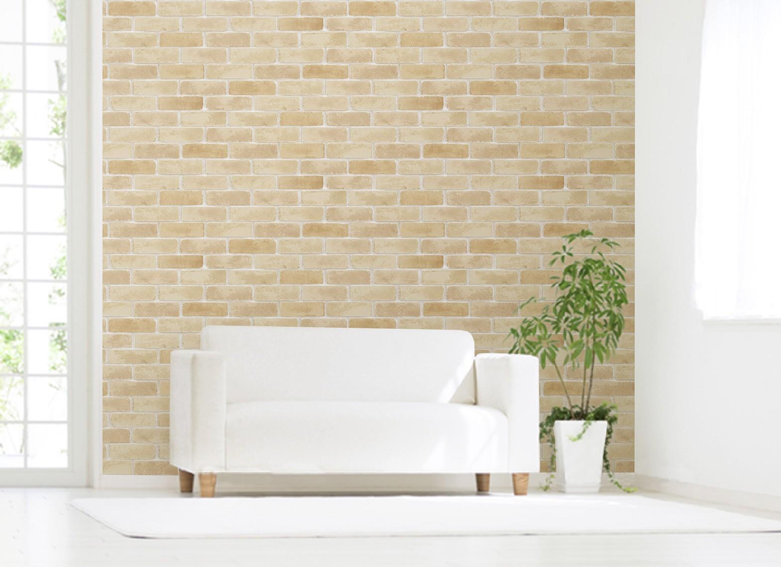 塩ビ壁紙に貼れるシート貼って剥がしても壁を傷めません お部屋を簡単に可愛く飾れる 送料無料 アクセント壁紙 92cmx2.5m 当店限定販売 10666632 専門店 レンガ WAP-501
