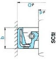NOK オイルシール SC15018014F (AC4624G1) SC型