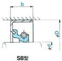 NOK オイルシール SB10012513F (AB4063E1) SB型