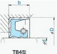 NOK オイルシール TB4 25029020 (AR5407E1) TB4型