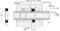 NOK パッキン USH20022012F (CU1543K1) ピストン・ロッドシール両用パッキン USH型