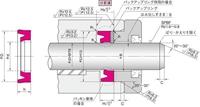 NOK パッキン IDI30033019 (FU1765F0) ロッドシール専用パッキン IDI型
