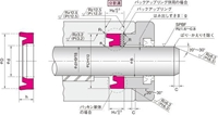 NOK パッキン IDI28031225 (FU2184F0) ロッドシール専用パッキン IDI型