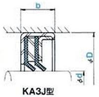 KA3J型 KA3J9512013 オイルシール NOK (GJ3994K0)
