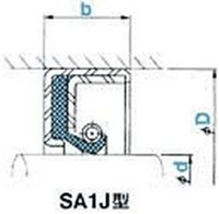 NOK オイルシール SA1J13016014 (GJ4451J0) SA1J型