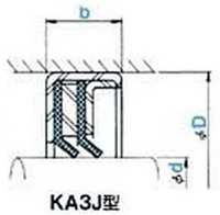 NOK オイルシール KA3J18021016 (GJ4898E0) KA3J型