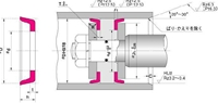 NOK パッキン ODI27024516 (FU1715H0) ピストンシール専用パッキン ODI型
