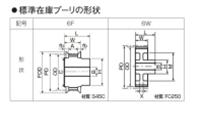 ゲイツ・ユニッタ・アジア P60-8M-30-6W パワーグリップタイミングプーリー