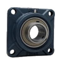 FYH 日本ピローブロック UCF218D 角フランジ形ユニット 円筒穴・鋼板カバー付き(一端密閉形)