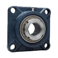 FYH 日本ピローブロック UKF217D 角フランジ形ユニット テーパ穴・鋼板カバー付き(一端密閉形)