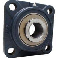 FYH 日本ピローブロック UKFS319C 印ろう付き角フランジ形ユニット テーパ穴・鋳鉄カバー付き(貫通形)