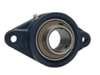 FYH 日本ピローブロック UCFL218C ひしフランジ形ユニット 円筒穴・鋼板カバー付き(貫通形)
