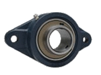 FYH 日本ピローブロック UCFL213FC ひしフランジ形ユニット 円筒穴・鋳鉄カバー付き(貫通形)