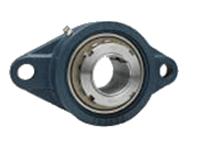 FYH 日本ピローブロック UKFL217C ひしフランジ形ユニット テーパ穴・鋼板カバー付き(貫通形)