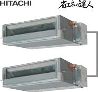 人気アイテム 個別ツイン てんうめ 中静圧タイプ 三相200V 省エネの達人 業務用エアコン 50型(2.0馬力相当):伝動機 日立 RPI-AP50SHPC1 店-DIY・工具