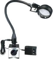 ノガジャパン LED付拡大鏡(スチールプレート付) 卓上タイプ LED5000M