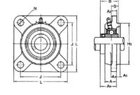 新着商品 UCFS316:伝動機 店 印ろう付角フランジ形ユニット 旭精工-DIY・工具
