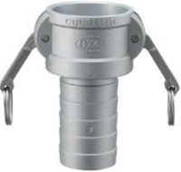 小澤物産 レバーカップリング OZ-CP-AL-6 (150A) プラスチックホース用カプラー アルミニウム 【当商品のご購入は別途送料1,728円が必ず掛かります】