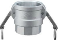 小澤物産 レバーカップリング OZ-D-AL-6 (150A) メスネジ型カプラー アルミニウム 【当商品のご購入は別途送料1,728円が必ず掛かります】