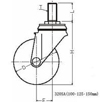 新発売 320SA-MCB150ハンマーキャスター 320SA-MCB150, コーヒーシティ:0504227f --- sever-dz.ru