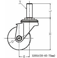 ハンマーキャスター 315SK-MCB100