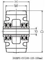 ハンマーキャスター 502BPS-CU200