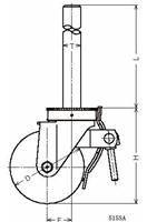 ハンマーキャスター 515SA-RB150 ゴム