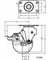 ハンマーキャスター 935BBE-BLB125D3.5
