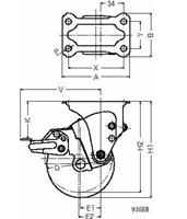 ハンマーキャスター 935ER-BLB125D2.0