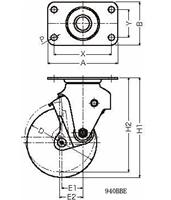 ハンマーキャスター 940BBE-BLB125D2.3