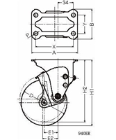 ハンマーキャスター 940ER-BLB100D2.3