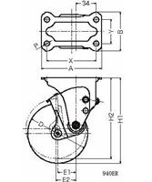 ハンマーキャスター 940ER-BLB125D3.2