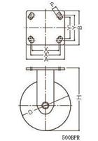 ハンマーキャスター 500BPS-HBN150