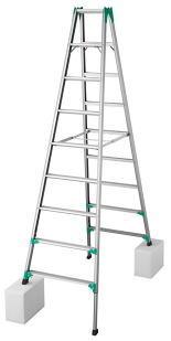長谷川工業 RYZ1.0-27 脚立 はしご兼用【こちらの商品は個人宅へのお届けはできません(法人のみ)】